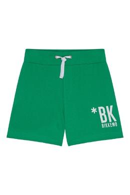 Зеленые трикотажные шорты Bikkembergs 1487183514