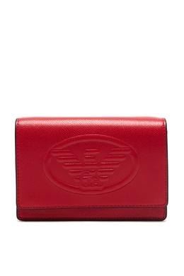 Красная сумка с логотипом Emporio Armani 2706184026
