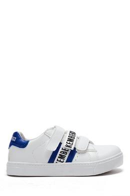 Бело-синие кроссовки на липучке Bikkembergs 1487183433