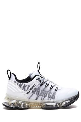 Черно-белые кроссовки с прозрачными вставками Bikkembergs 1487183435