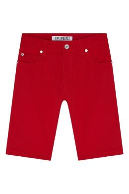 Красные хлопковые шорты Bikkembergs 1487183509