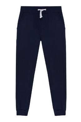 Синие хлопковые брюки Bikkembergs 1487183506