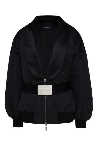 Черная куртка с шалевым воротником Emporio Armani 2706183879 - 1