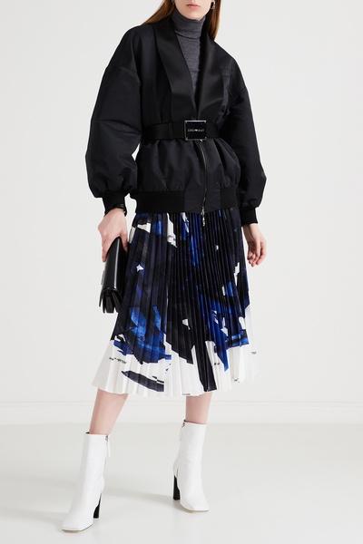 Черная куртка с шалевым воротником Emporio Armani 2706183879 - 2