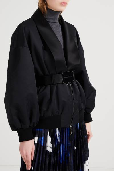 Черная куртка с шалевым воротником Emporio Armani 2706183879 - 3