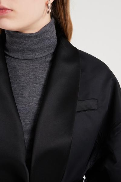 Черная куртка с шалевым воротником Emporio Armani 2706183879 - 5