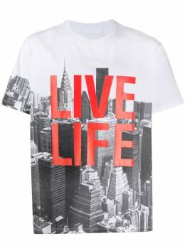 Neil Barrett футболка Live Life с короткими рукавами PBJT680SN525S