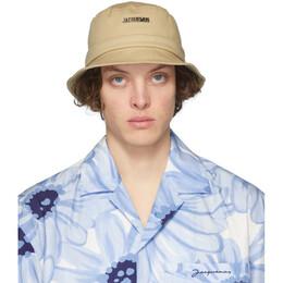 Jacquemus Beige Le Bob Gadjo Bucket Hat 205AC03-205 69120