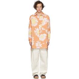 Jacquemus Orange La Chemise Paul Shirt 205SH20-205 2072B