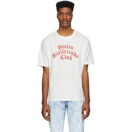 Stolen Girlfriends Club White Arch Gothic Classic T-Shirt C4-19T001WJ