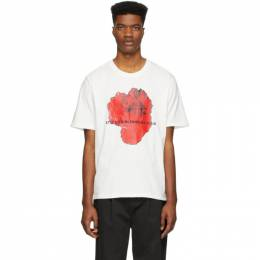 Stolen Girlfriends Club SSENSE Exclusive White Red Rose Razor T-Shirt C4-19T001DI