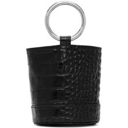 Simon Miller Black Croc Bonsai 15 Bag S801-9026
