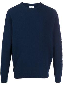 Kenzo свитер с круглым вырезом и фактурным логотипом FA55PU5183BD