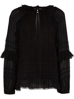 Isabel Marant Etoile блузка Jayden с оборками и вырезом HT159820P031E