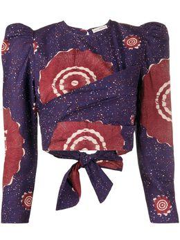 Ulla Johnson блузка Eden с абстрактным принтом PS200207