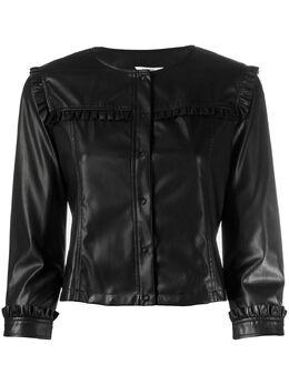 Liu Jo куртка без воротника с оборками WA0153E0392