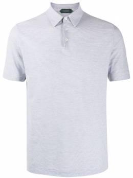 Zanone полосатая рубашка-поло 811818ZW376