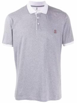 Brunello Cucinelli рубашка-поло с контрастным воротником M0T618357GCU263