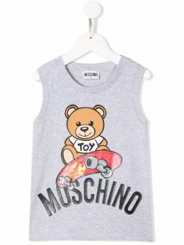 Moschino Kids топ Teddy Bear HMM02FLBA10