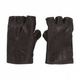 Boris Bidjan Saberi Black Fingerless Gloves GLOVES1-FMM20033