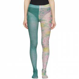 Marc Jacobs Blue The Left and Right Print Tights N9000011