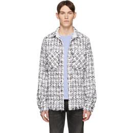 Faith Connexion SSENSE Exclusive White and Black Tweed Shirt X1820T00553