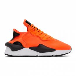 Y-3 Orange and Black Kaiwa Sneakers EH1395