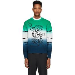 Kenzo Green Gradient Tiger Sweater FA55PU5073XE