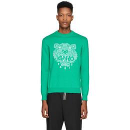 Kenzo Green Tiger Head Sweatshirt FA55PU5003XB