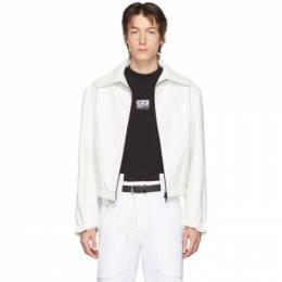 Boramy Viguier White Faux-Leather Coach Jacket BV.SS20.06.V3