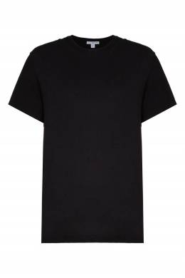 Черная футболка с круглым вырезом James Perse 280183488