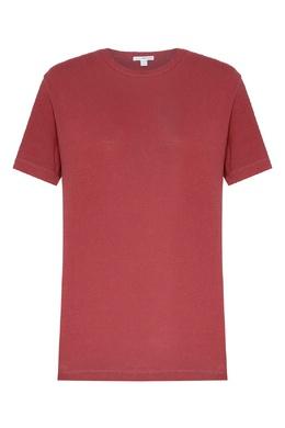 Малиновая футболка с круглым вырезом James Perse 280183492
