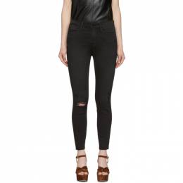Frame Black Le High Skinny Cropped Jeans LHSKCRA208