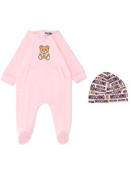 Moschino Kids комплект для новорожденного с логотипом MUY02RLDA12