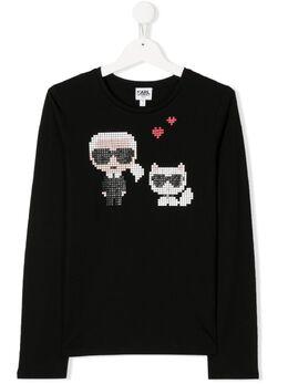 Karl Lagerfeld Kids футболка с длинными рукавами и принтом Karl Z1524809B