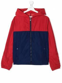Moncler Kids куртка в стиле колор-блок с капюшоном 1A7012054543