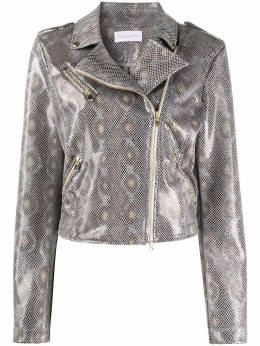 Patrizia Pepe байкерская куртка с тиснением под кожу питона 8L0350A6E4