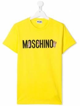 Moschino Kids футболка с логотипом H7M01ILAA08