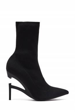 Черные текстильные ботильоны с фигурным каблуком Unravel Project 2852166865