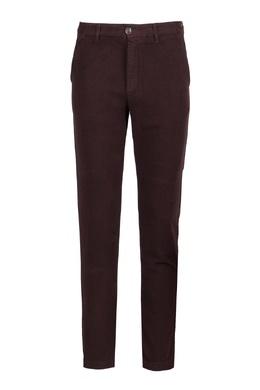 Хлопковые брюки бордового цвета Eleventy 2014184663
