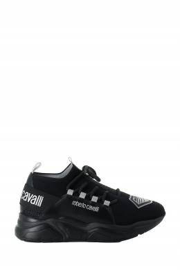 Черные кроссовки из текстиля Roberto Cavalli 314184667