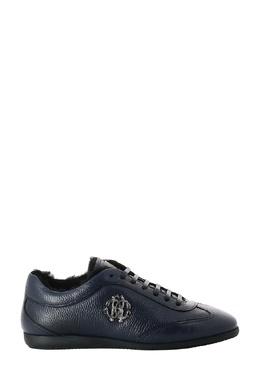 Синие кроссовки с логотипом Roberto Cavalli 314184668