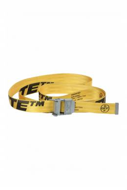Желтый ремень с надписями Industrial Off-White 2202184547