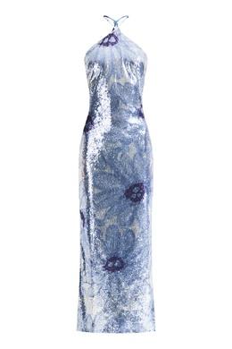 Платье макси с пайетками и цветочным мотивом Jacquemus 2985184376
