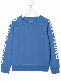 Zadig & Voltaire Kids толстовка с принтом Girls Can Do Anything X15191812
