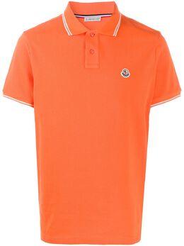 Moncler рубашка-поло с вышитым логотипом 8A7060084556