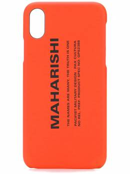 Maharishi чехол для iPhone X с логотипом GPS2388