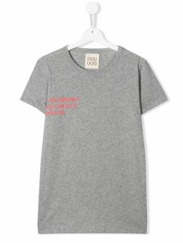 Douuod Kids TEEN quote-print relaxed-fit T-shirt TE551229M805T