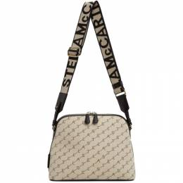 Stella McCartney Beige Canvas Monogram Shoulder Bag 700011W8437