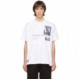 Burberry White Montage T-Shirt 8024733